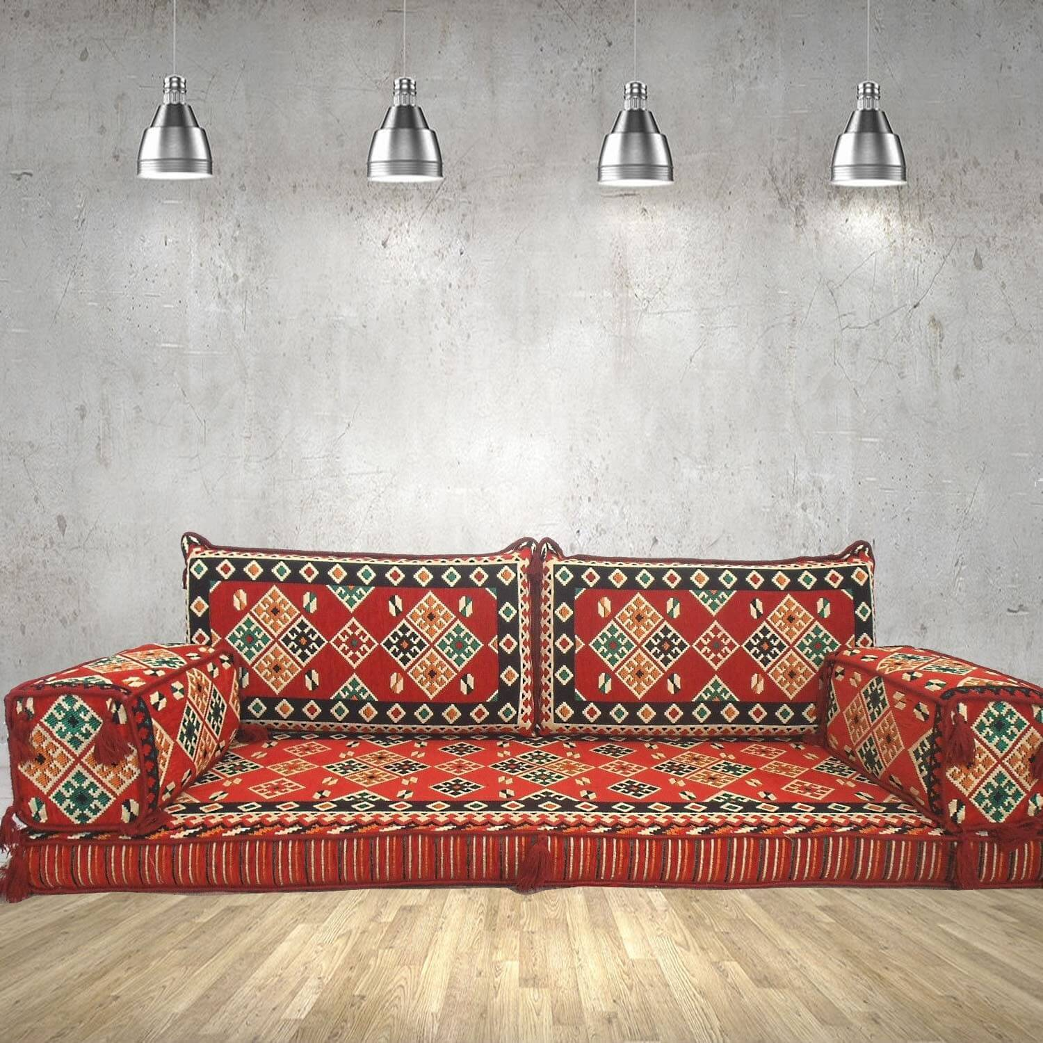 Floor sofa with double back pillows - SHI_FS240