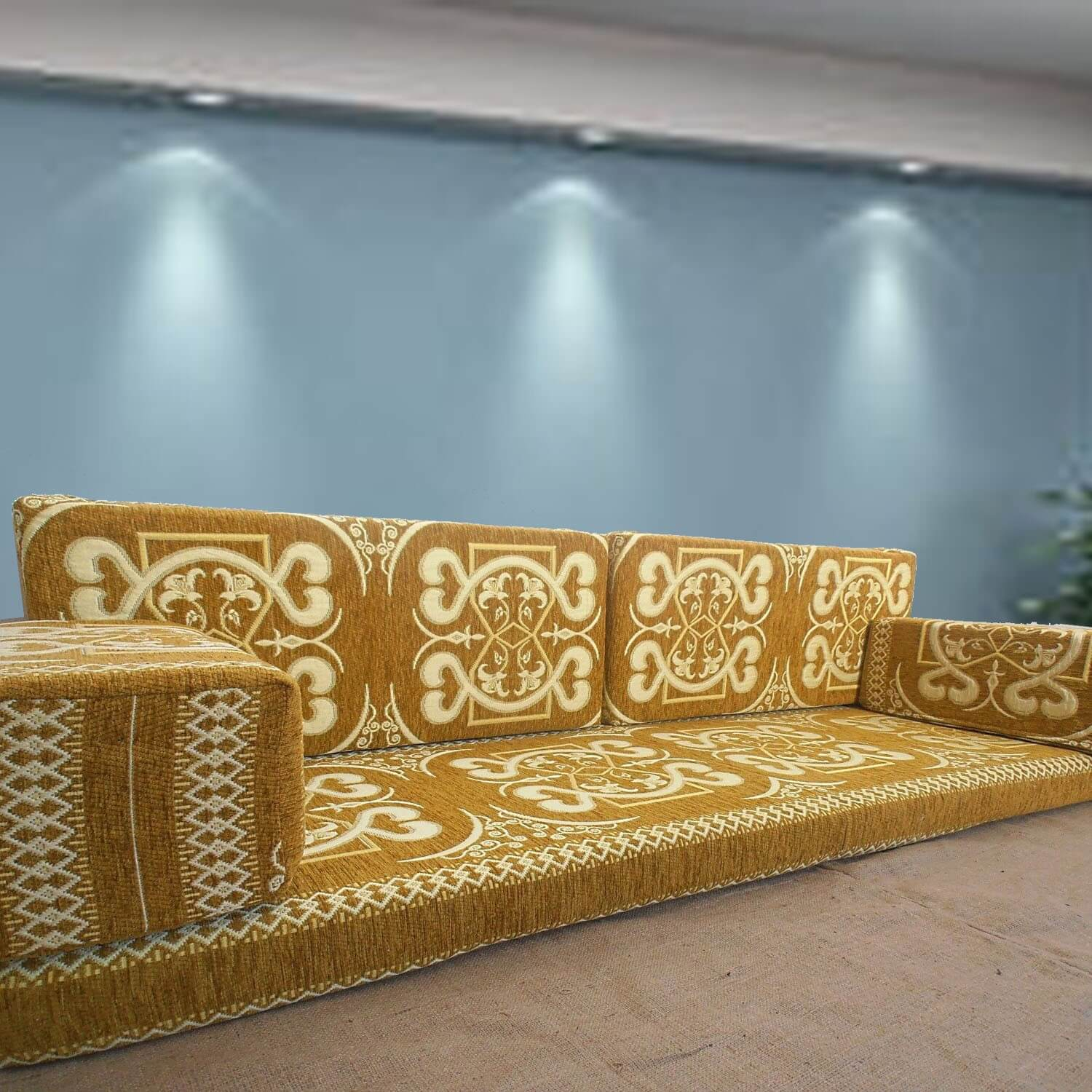 Floor sofa with double back pillows - SHI_FS207