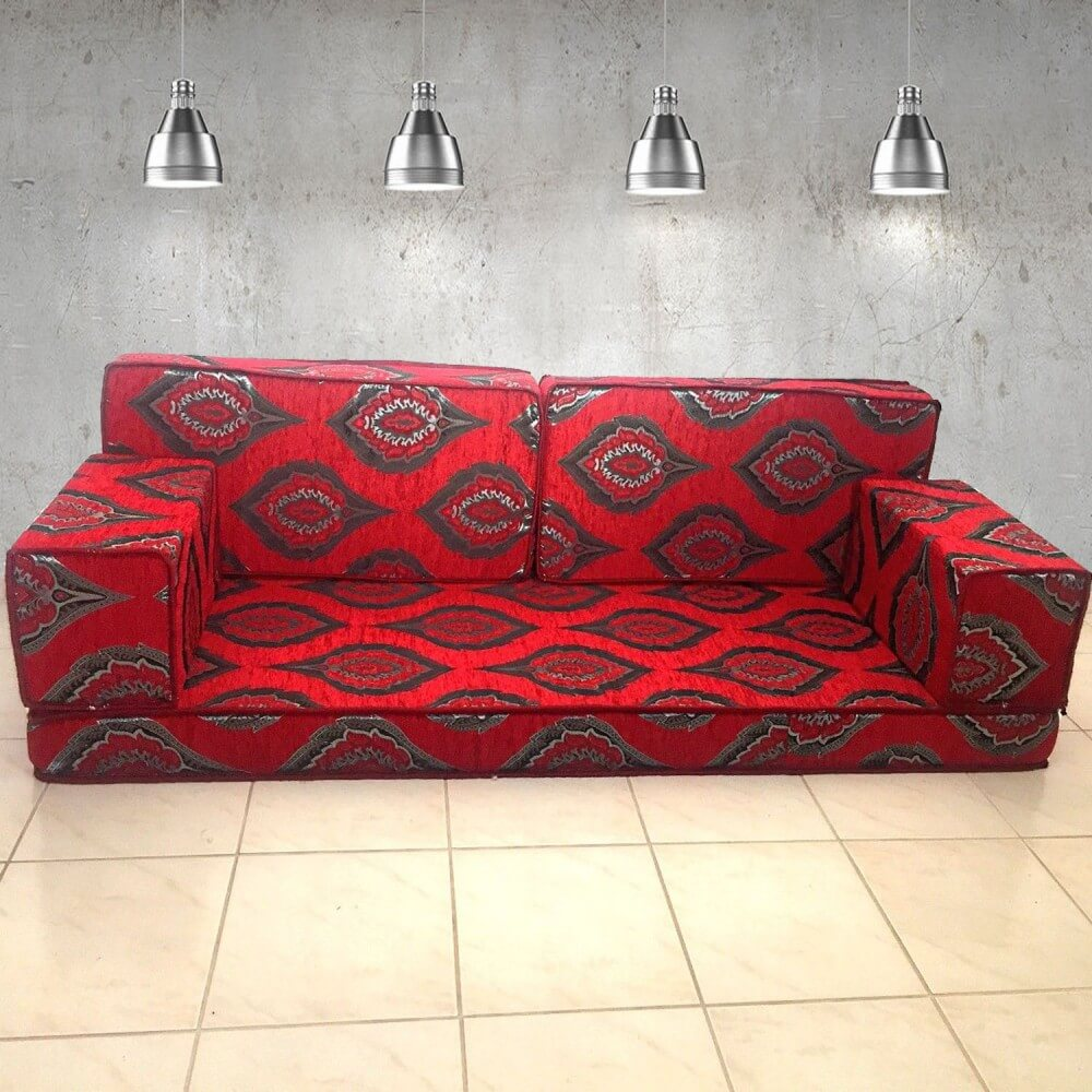 Floor sofa with double back pillows - SHI_FS18