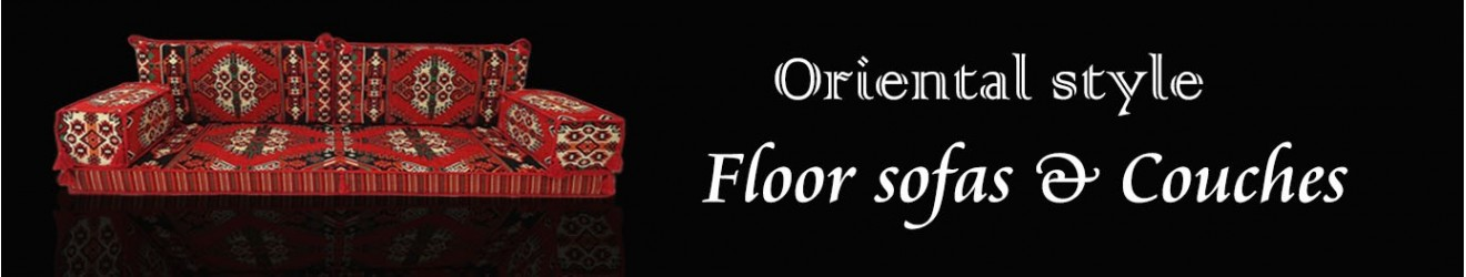 Arabian style majlis floor sofa | Bohemian furniture | Floor cushions