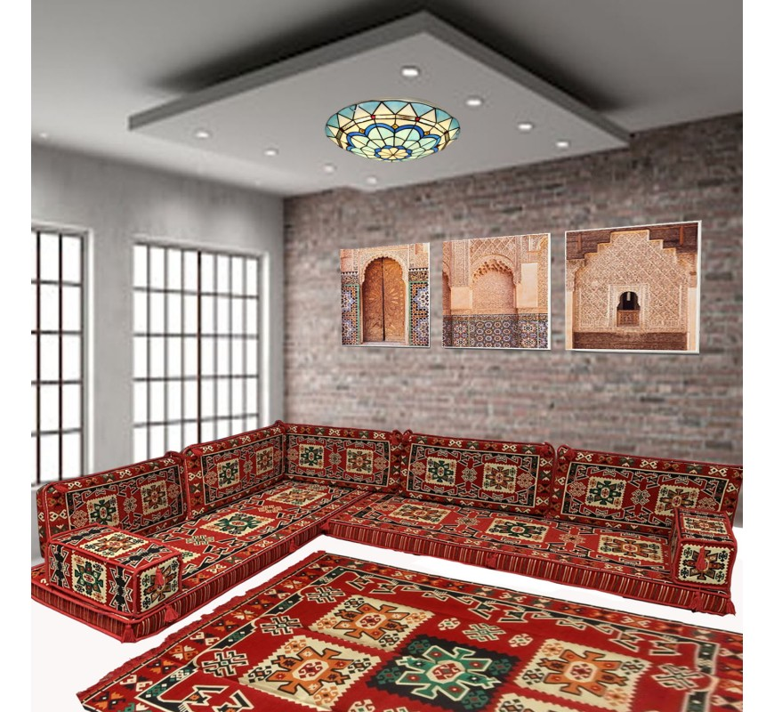Get Cozy in Boho-Middle Eastern Style with Majlis Floor Sofas